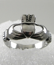 Stainless Steel Men's Claddagh Ring