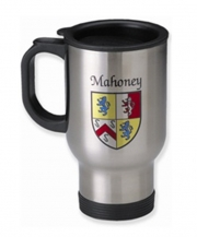 Irish Coat-of-Arms Stainless Steel Insulated Travel Mug