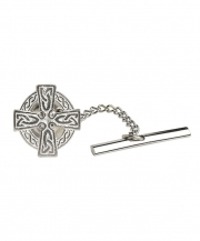 Celtic Cross Tie Tac - Silver