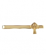 Celtic Cross Tie Bar - Gold
