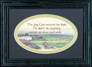 The Day God Created The Irish - 5x7 Blessing - Oval Green Frame