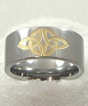Two Tone Trinity Knot Ring