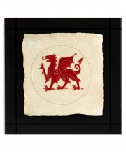 Welsh Dragon Parchment Wall Tile