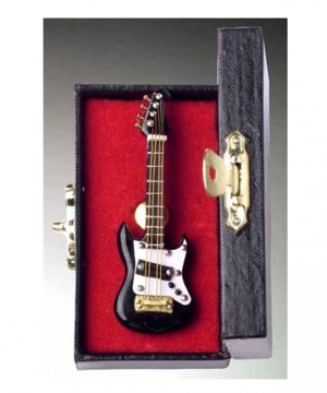 Black Electric Guitar Pin With Case