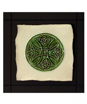 Celtic Cross Parchment Wall Tile