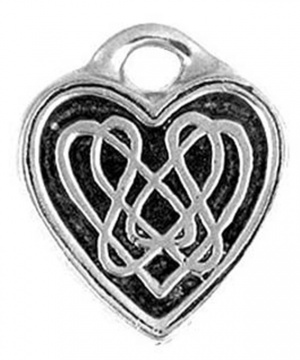 Celtic Knot Heart Pewter Necklace