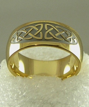 Gold Plated Celtic Band