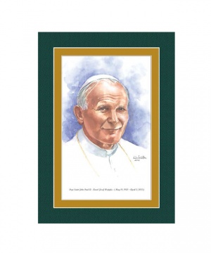 Pope Saint John II Watercolor Print 5x7