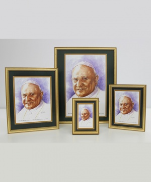 Pope Saint John XXIII  Framed Watercolor Prints