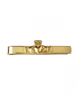 Claddagh Straight Tie Bar - Gold